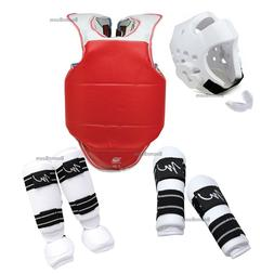 Taekwondo Sparring Gear set 7 PC Complete Deluxe Karate Prot