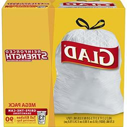 Glad Tall Kitchen Drawstring Trash Bags - 13 Gallon - 90 Cou
