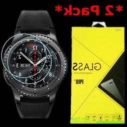2-Pack Tempered Glass Screen Protector For Samsung Gear S3 F
