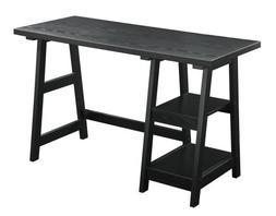 Trestle Writing Desk, Black