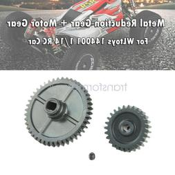 Upgrade Metal Reduction Gear Motor Gear For Wltoys 144001 1/