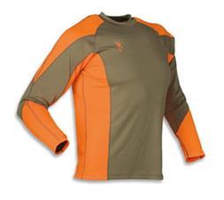 Browning Upland NTS Long Sleeve Shirt, Brown/Blaze, 2X MSRP