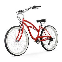 Beachbikes Women's Urban Lady 7 Speed Beach Cruiser Bike