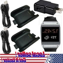 US 2 Charging Cradle Charger Dock for Samsung Galaxy Gear SM