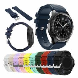 US For Samsung Gear S3 Frontier/Classic 46mm Silicone Bracel