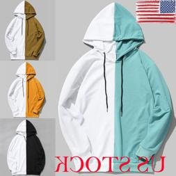 US Mens Cotton Casual Hoodies Hooded Sweatshirt Coat Jacket
