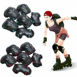 USA 6pcs Skating Protective Gear Set Elbow Knee Pad Bike Spo