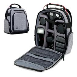 USA Gear Pro DSLR Camera Backpack Carrying Bag Weather Resis