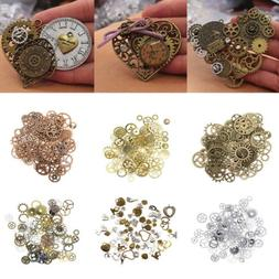 Vintage Metal Mixed Gears Charms Jewelry Making DIY Steampun