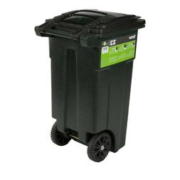 Toter Wheeled Trash Can 32 Gal Black, Granite, Green, Stone