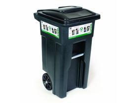 Toter Wheeled Trash Can Cart 32-Gal. Polyethylene Rugged Rim
