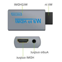 Wii To HDMI Converter Adapter 3.5mm Audio Video Output & HDM