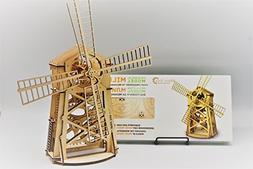Wood Trick WINDMILL Wind Mill Mechanical Models 3D Wooden Pu