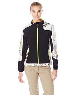Yukon Gear Women's Windproof Softshell Fleece Jacket, Mossy