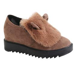 HYIRI Winter Warm Snow Shoes,Women's Non-Slip Flat Platfor