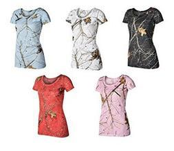 Yukon Gear Women's Camo Burnout T-Shirts