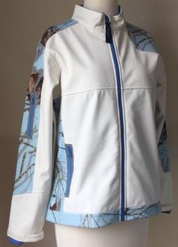 Yukon Gear Womens Jacket Windproof Softshell White Sky Blue