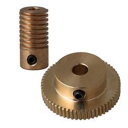 CNBTR Yellow 4MM Hole Dia Brass Worm Gear Shaft & 31MM 0D 60