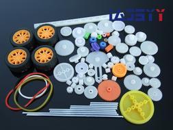 YongYeTai 78pcs Gearbox toy robot motor <font><b>plastic</b>
