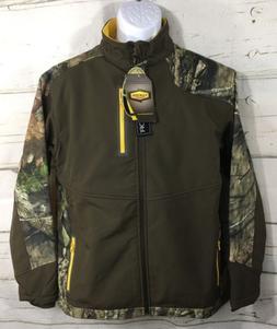 Yukon Gear Mens Windproof Softshell Jacket Mossy Oak Camo -F