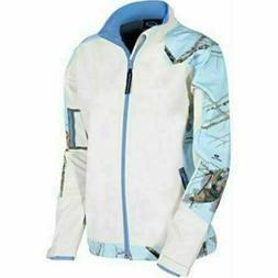 Yukon Gear Womens Fleece Jacket, Mossy Oak Fleece Small